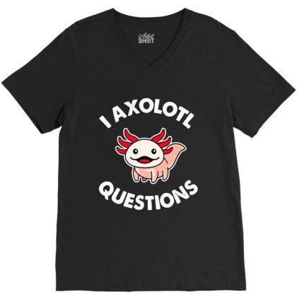 Axolotl Gift V-neck Tee Designed By Tht