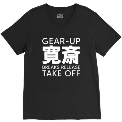 Gear Up Breaks Release Take Off V-neck Tee Designed By Yourstyle