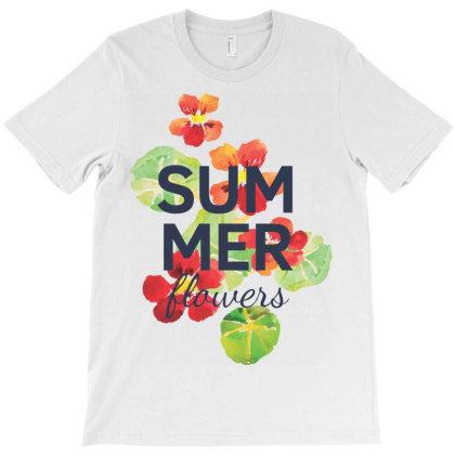 Summer, Flowers T-shirt Designed By Estore