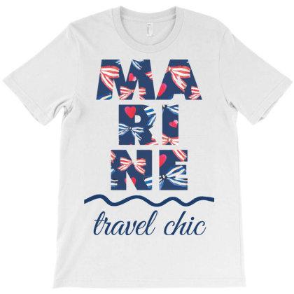 Marine Travel Chic T-shirt Designed By Estore