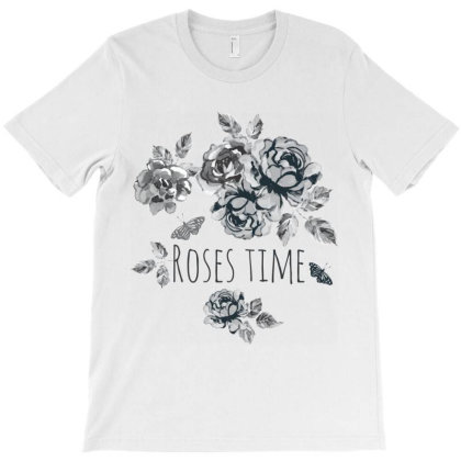 Roses Time, Flowers T-shirt Designed By Estore