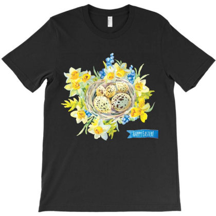 Happy Easter, Flowers T-shirt Designed By Estore