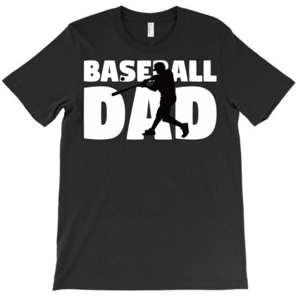 Baseball Dad T Shirt Father Baseball Silhouette Gift Tee T Shirt T-shirt Designed By Cute2580