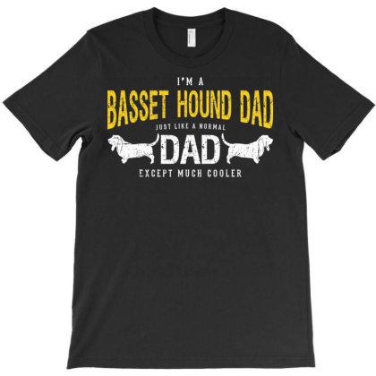 Basset Hound Dad Shirt Gifts For Basset Hound Dog Lovers T Shirt T-shirt Designed By Good0396