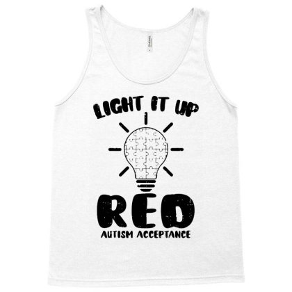 Light It Up Red Tank Top Designed By Alpha Art