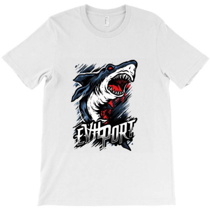 Evil Port Shark T-shirt Designed By Hatta1976