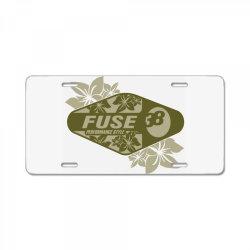 Fuse, Performance style License Plate | Artistshot