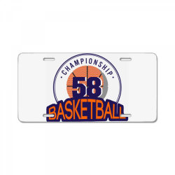 Championship 58 basketball License Plate | Artistshot