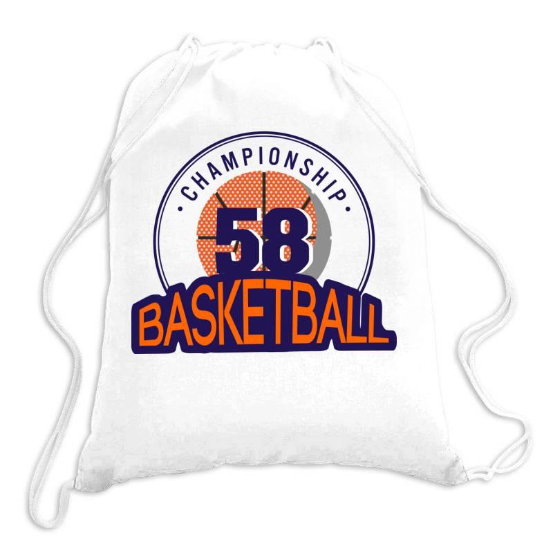 Championship 58 Basketball Drawstring Bags | Artistshot