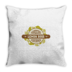 Hardcore performance, Lemon boss Throw Pillow | Artistshot