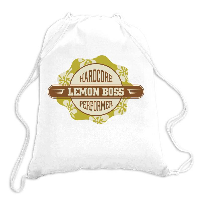 Hardcore Performance, Lemon Boss Drawstring Bags | Artistshot