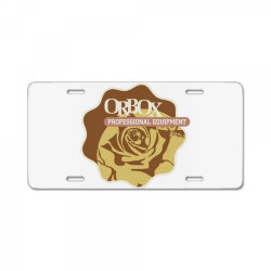 Orbox professional equipment License Plate | Artistshot
