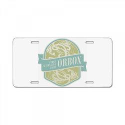 Public Alternative Label, Orbox License Plate | Artistshot