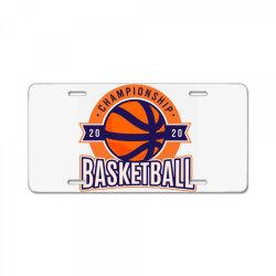 Championship, basketball License Plate | Artistshot