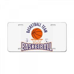 Basketball team License Plate   Artistshot