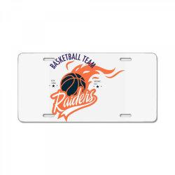 Basketball team, Raiders License Plate | Artistshot