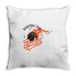 Basketball team, Raiders Throw Pillow | Artistshot