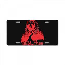 Wild and tree, Bear License Plate | Artistshot