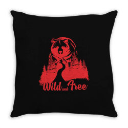Wild and tree, Bear Throw Pillow | Artistshot