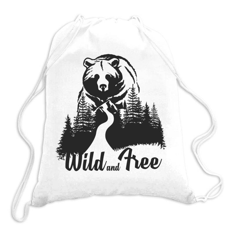 Wild And Tree, Bear Drawstring Bags | Artistshot