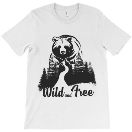 Wild And Tree, Bear T-shirt Designed By Estore