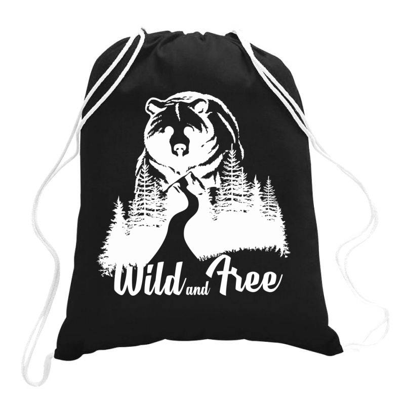 Wild And Tree, Bear Drawstring Bags | Artistshot