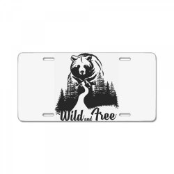 Wild and tree, Bear License Plate | Artistshot
