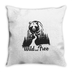 Wild and tree, Bear Throw Pillow | Artistshot