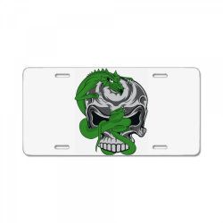 Skull dragon License Plate | Artistshot