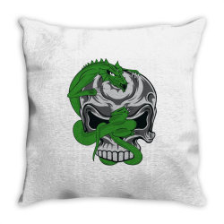 Skull dragon Throw Pillow | Artistshot