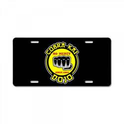 cobra kai , strike first,strike hard,no mercy License Plate | Artistshot