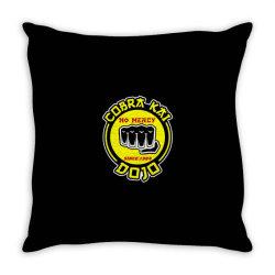 cobra kai , strike first,strike hard,no mercy Throw Pillow | Artistshot