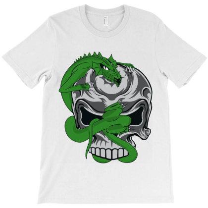Skull Dragon T-shirt Designed By Estore