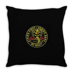 cobra kai,   strike first,   strike hard,   no mercy, Throw Pillow | Artistshot