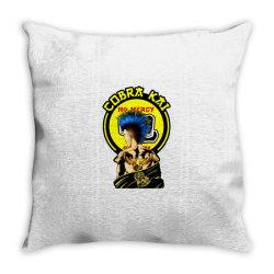 cobra kai,   strike first ,  strike hard ,  no mercy Throw Pillow | Artistshot