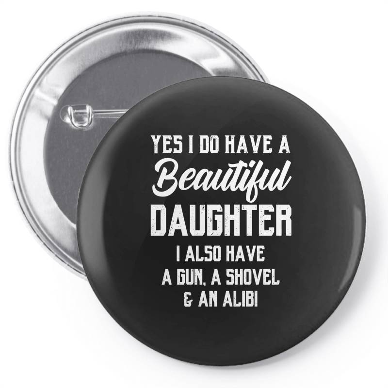 Mens Daughter To Dad - Fathers Day Gift Pin-back Button | Artistshot