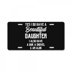 Mens Daughter to Dad - Fathers Day Gift License Plate | Artistshot
