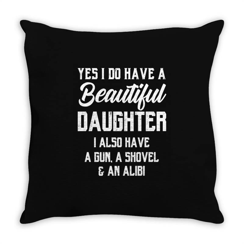 Mens Daughter To Dad - Fathers Day Gift Throw Pillow | Artistshot
