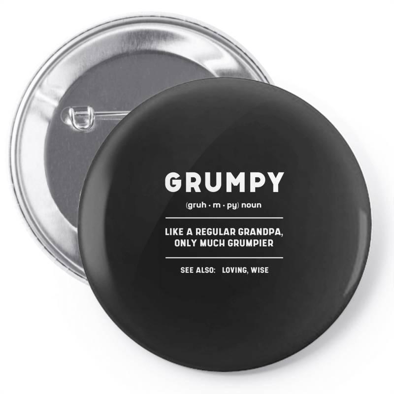 Grumpy Like A Regular Grandpa - Fathers Day Gift Pin-back Button | Artistshot