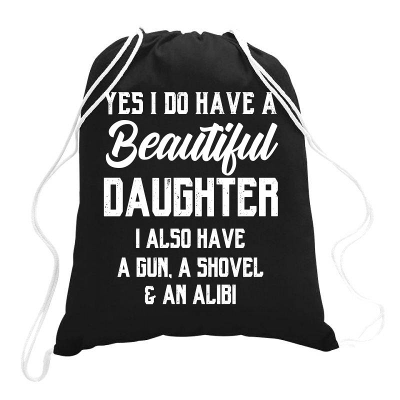 Mens Daughter To Dad - Fathers Day Gift Drawstring Bags | Artistshot