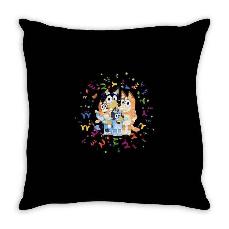 Bluey Dad Mom Funny Family Throw Pillow | Artistshot