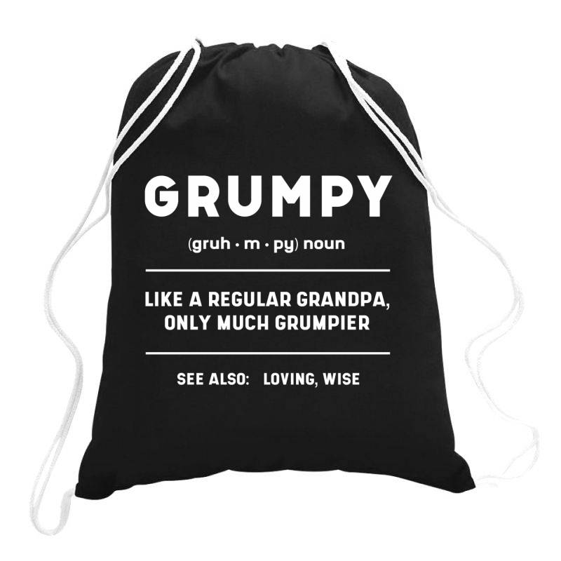 Grumpy Like A Regular Grandpa - Fathers Day Gift Drawstring Bags   Artistshot