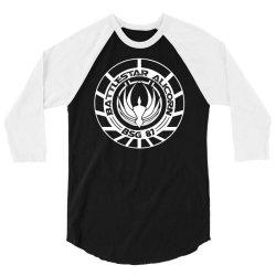 battlestar galactica distressed badge 3/4 Sleeve Shirt   Artistshot