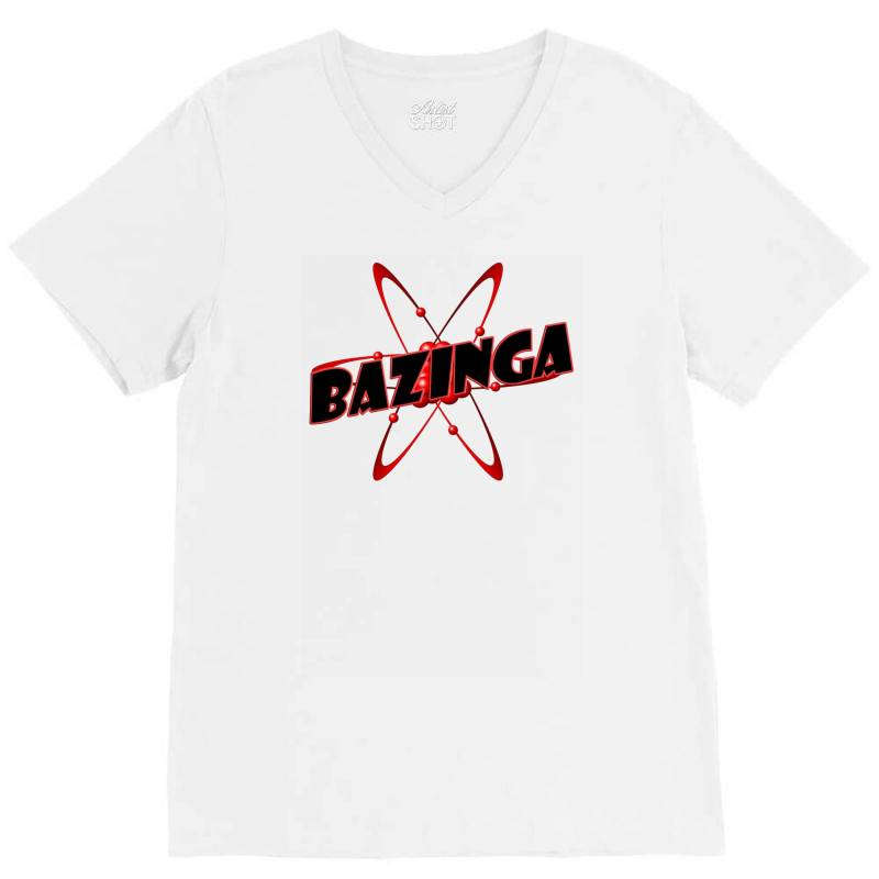 Bazinga Logo Inspired By The Big Bang Theory Ideal Birthday Gift V-neck Tee | Artistshot