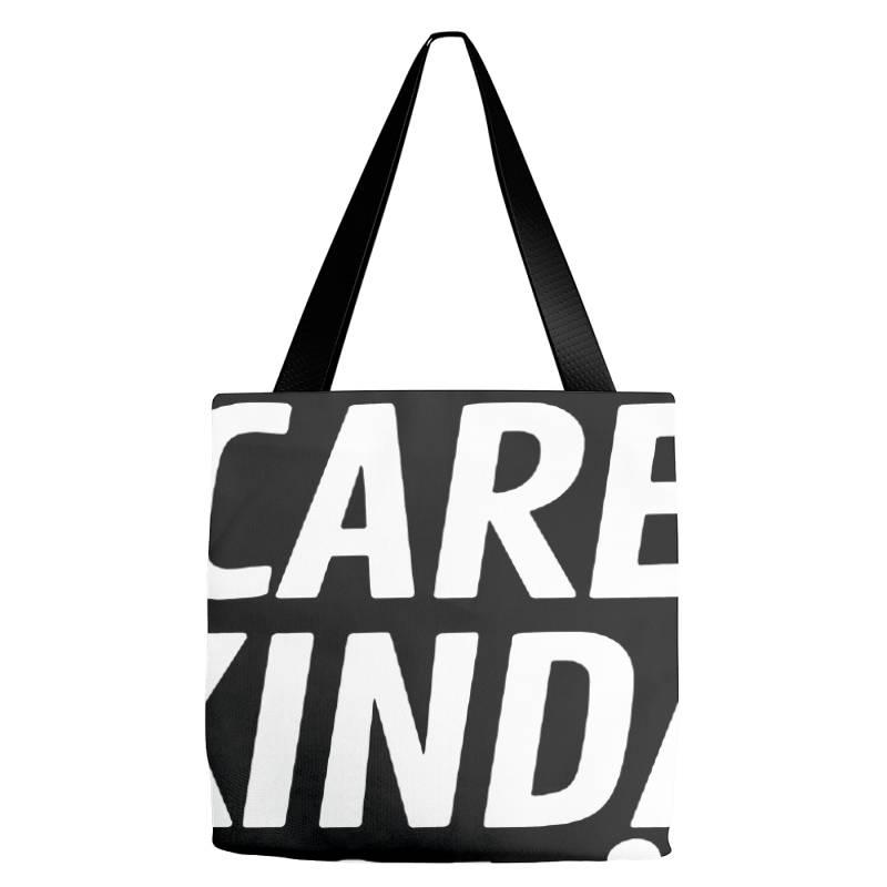 Kinda Care Tote Bags   Artistshot