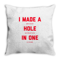 i made a bogey on every hole and threw putter in one Throw Pillow | Artistshot