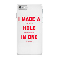 i made a bogey on every hole and threw putter in one iPhone 7 Case | Artistshot