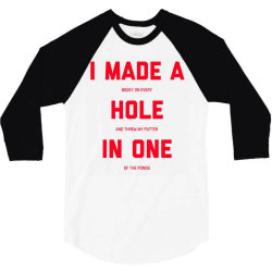 i made a bogey on every hole and threw putter in one 3/4 Sleeve Shirt | Artistshot