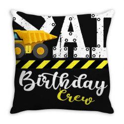 b day party dad birthday crew con.struc.tion birthday party t shirt Throw Pillow | Artistshot