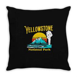 vintage yellowstone national park Throw Pillow | Artistshot